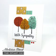 Sympathy card made with Stampin' UP! Totally Trees & Better Together stamp sets