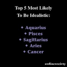 Zodiac signs: Top 5 Most Likely To Be Idealistic
