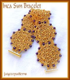 Inca Sun bracelet PATTERN by jayceepatterns on Etsy