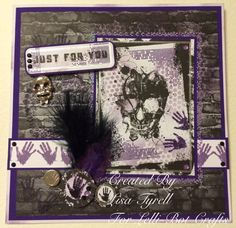 Made using the gothic stamp and card kit from Lelli-bot crafts