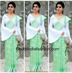 South India Fashion ~ Latest Blouse Designs 2020 - Page 6 Designer Blouse Patterns, Fancy Blouse Designs, Blouse Neck Designs, Sari Design, Saree Wearing Styles, Saree Styles, Trendy Sarees, Stylish Sarees, Sari Blouse