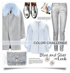 """Blue and Silver"" by monica-dick ❤ liked on Polyvore featuring moda, Faith Connexion, Coperni Femme, Rebecca Taylor, Proenza Schouler e blueandsilver"