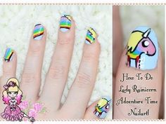 How To Do Lady Rainicorn Nail Art - Adventure Time Tutorial
