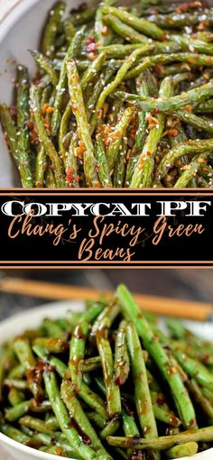 This is the best Copycat PF Chang's Spicy Green Beans formula and flawless as a side dish or vegan fundamental dish served over rice! Shrimp And Green Beans, Spicy Green Beans, Healthy Green Beans, Green Beans And Potatoes, Pf Chang Green Beans, Honey Garlic Green Beans, Fresh Green Bean Recipes, Roasted Green Beans, Side Dish Recipes