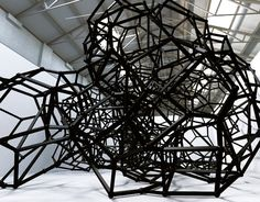 black art installation by Antony Gormley: Firmament IV
