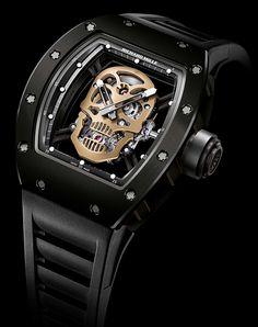 Montre Richard Mille Tourbillon RM 52-01 Skull Nano-céramique - Un univers anticonformiste orienté vers la créativité.