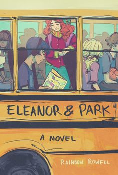 "Gorgeous cover art for ""Eleanor and Park"", by Rainbow Rowell - art by paperpie on Tumblr."