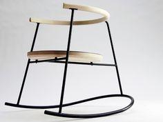 rockingchair design bois métal
