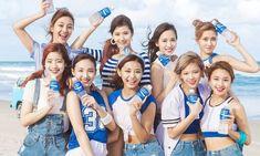 Designer Clothes, Shoes & Bags for Women Kpop Girl Groups, Korean Girl Groups, Kpop Girls, Nayeon, Shinee, Twice Knock Knock, Pocari Sweat, Twice Group, Warner Music