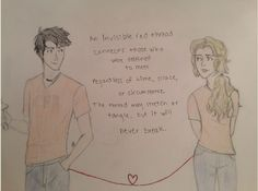 Percy Jackson and Annabeth's romantic Valentine's Day of The Red Thread of Fate <3