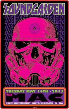 Soundgarden. Frank Kozik. New Jersey Poster. #starwars #stormtrooper