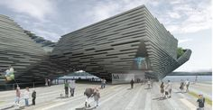 Japanese architect Kengo Kuma has won the competition to design the new V Museum planned for Dundee in Scotland. Kengo Kuma, Angular Architecture, Futuristic Architecture, Public Architecture, Building Architecture, Beautiful Architecture, Landscape Architecture, Museum Plan, V & A Museum
