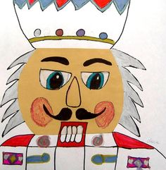 children's art-  nutcracker face