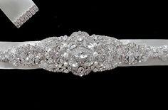 Wedding Bridal Jeweled Crystal Brooch Sashes by Tatishotties