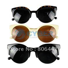bd71dedf2b Buy new fashion unisex retro designer super round circle cat eye semi-rimless  sunglasses from newdress