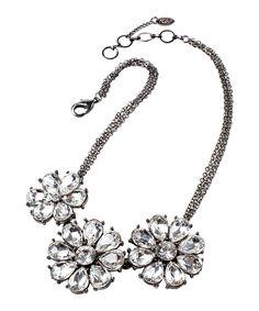 Love this Crystal & Gunmetal Katrina Bib Necklace by Amrita Singh on #zulily! #zulilyfinds