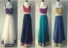 A modern twist to regency era style dresses.
