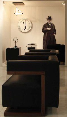 F51 Armchair and Sofa by Walter #Gropius at 2011 IMM Cologne's #Tecta boot