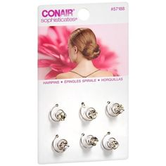 Conair Rhinestone Spin Pi Size 6pk Conair Rhinestone Spin Pins 6pk >>> This is an Amazon Affiliate link. Details can be found by clicking on the image.