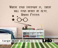 Harry Potter - Quote Wall Decal - Children Room Decor❤️ Harry Potter Quotes, Harry Potter Books, Harry Potter Love, Large Wall Decals, Kids Wall Decals, Hp Quotes, Wall Quotes, Mischief Managed, Printable Quotes