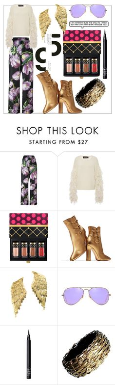 """thou shalt not"" by soidi-illis ❤ liked on Polyvore featuring Dolce&Gabbana, Tabula Rasa, MAC Cosmetics, Gianvito Rossi, Bernard Delettrez, Ray-Ban, NARS Cosmetics and Chanel"