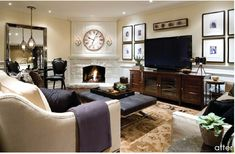 love the feel of this room. masculine with a touch a feminine.