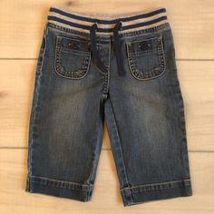 Mini Boden Capri Denim Drawstring Waist Pants