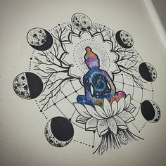 I like this concept, just would not put a Buddha tattoo on my body Mandala Tattoo Design, Dotwork Tattoo Mandala, Tattoo Designs, Henna Designs, Buddha Tattoo Design, Ganesha Tattoo, Buddha Tattoos, Tattoo On, Piercing Tattoo