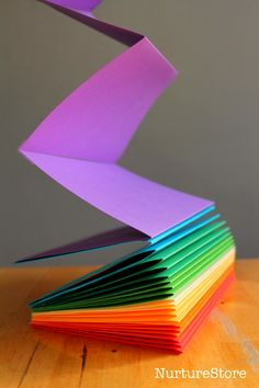 How to make a rainbow book