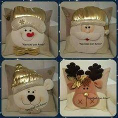 Risultati immagini per cojines para navidad con moldes Xmas Crafts, Felt Crafts, Diy And Crafts, Christmas Cushions, Christmas Pillow, All Things Christmas, Christmas Holidays, Christmas Ornaments, 242