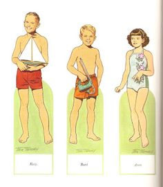 Miss Missy Paper Dolls: American Family of the 1950's