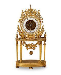 A Belgian Empire early 19th Century mantel clock. Length 23, height 45,5 cm.. - Autumn Classic Sale, Stockholm 565 – Bukowskis