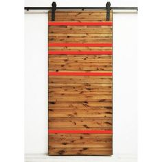 Dogberry Collections Line Em Up Wood 1 Panel Interior Barn Door Finish: