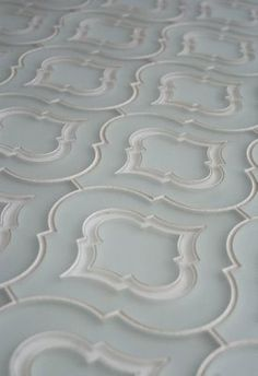 Moroccan inspired glass tile.