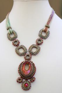 By Tanya:      Our last project was Josephine's Collar, designed by Jill Devon and published in the June 2012 issue of Beadwork Magazine.