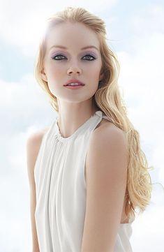 Pastel Makeup & White Dress