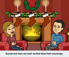 Brandi and Alex are both stuffed like their stockings.