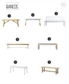 Hay un mueble en decoración que se adapta a la perfección en muchas de las estancias, éste es el banco. Personalmente, me encanta como queda en una mesa de comedor, apoyado contra la pared y compar…