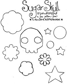 Sugar Skull pattern. ..uh, oh, my mind's going CRaZY with ideas right now!