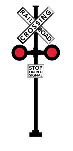 Railroad Stop Sign and Signal
