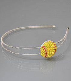 Softball Rhinestone Headband $12 Cute.
