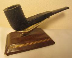 Vintage Sandblasted Straight Poker Billiard Estate Briar Tobacco Smoking Pipe