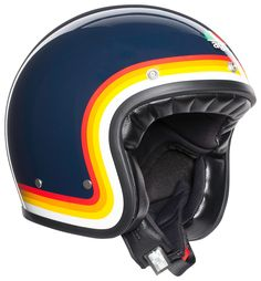 Retro Styles The AGV Helmet refreshes of a truly iconic piece of motorcycle history. - The AGV Helmet refreshes of a truly iconic piece of motorcycle history. Open Face Motorcycle Helmets, Open Face Helmets, Motorcycle Style, Women Motorcycle, Enduro Motorcycle, Motorcycle Gloves, Biker Style, Retro Helmet, Vintage Helmet