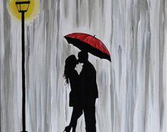 silhouette of couple under umbrella - Google Search