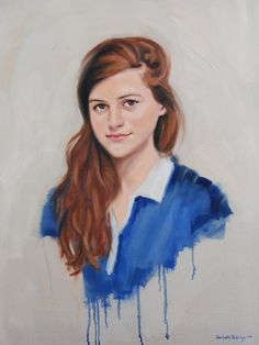 A portrait painting of Giovanna, commissioned by her parents.  Oil on Canvas.  Artist: Charlotte Partridge