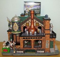 Lemax Christmas Village Animated Lighted Building ~ Yulesteiner Brewery #050731