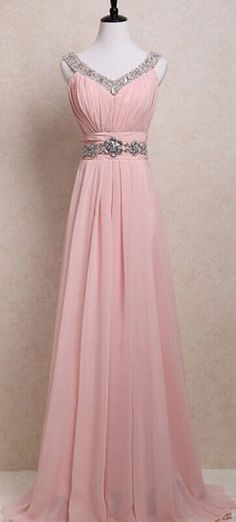 Blush Pink Prom Dresses,Straps Prom Gowns,Pink Prom Dresses, Party Dresses ,Long Prom Gown,Open Backs Prom Dress,Sparkle Evening Gowns