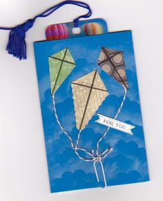 make kites with petite pennants builder punch.