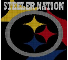 Pittsburgh Steelers Crochet Afghan Pattern Graph, $5.00... Pattern now available in MS Excel Format for easier following. More patterns available soon in this easier format!!!
