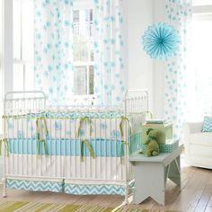 crib bedding   aqua-dandelion-crib-bedding
